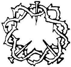 Religious Symbols Coloring Pages | Jesus Crown Of Thorns Tattoo Designs