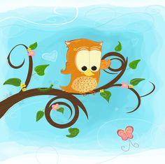 Curious Owl by Sara Hubbard