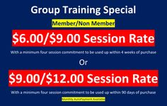 New Group Training Special Rates