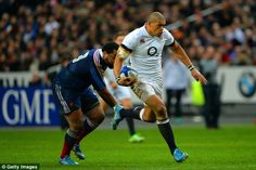 Luther Burrell scored on his debut for England against France, 2014