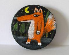 WALDLÄUFER von Herbivore11 Unikat Anstecker Kunst für unterwegs Fuchs Füchse süß