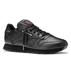 04d599cfedb15c Amazon.de Reebok Classic Leather Black, Black Reebok, Basket Running,  Leather Sneakers
