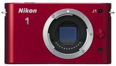 Nikon 1 J1 10.1 MP HD Digital Camera Body Only (Red). Nikkor 10mm f/2.8, Nikkor 10-30mm f/3.5-5.6 VR Lens Model.