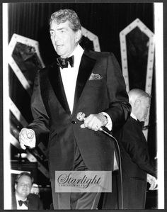 Dean Martin LOT 2 ORIGINAL 1980s Candid Press Photo Thalians Ball