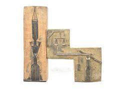 Industrial Wood Type Letterpress Printing Blocks Scientific Illustration Wooden Stamps Set by VerifiedVintageNL on Etsy