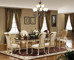 Beautiful Neutral Dining Room Decorating   Real House Design