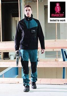 Prin inovatia Advanced s-a obtinut un material elastic in 4 directii asigurand libertate de miscare unica.  Tesatura rezistenta la umiditate (water-repellent ) asigura o greutate usoara si totodata rezistenta foarte mare.  Buzunarele pentru genunchiere realizate din CORDURA® rezistent. Mascot Workwear, Romania, Work Wear, Outfit Work, Work Attire, Workwear, Work Outfits, Overall Dress, Work Dresses