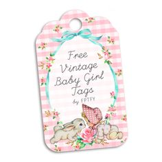 Free Vintage Baby Girl Tags by FPTFY web ex