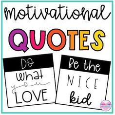 Motivational Quote Posters for Classroom Decor by Elementary at HEART Motivational Posters, Quote Posters, Elementary Teacher, Teacher Pay Teachers, Daily Journal Prompts, Teaching Language Arts, Teacher Organization, Classroom Decor, Kindergarten Classroom