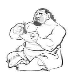 Tui Montonui Poses and full body attitudes