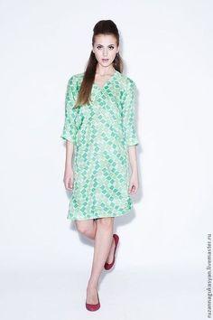 Silk dress / Платья ручной работы. Ярмарка Мастеров - ручная работа. Купить Платье - туника от RUZANNA GUKASYAN. Handmade. Мятный, платье для отдыха