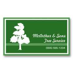 20 Best Tree Service Business Cards