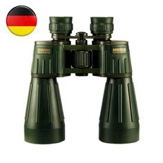 Seeker Binoculars 15X60 Germany Military Powerful Binocular Army Green Professional Telescope High-definition for Hunting Best