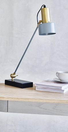 Put the spotlight on minimal styling with this Alba Table Lamp.