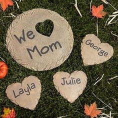 Personalized Heart Stepping Stone For Mom. #MothersDay