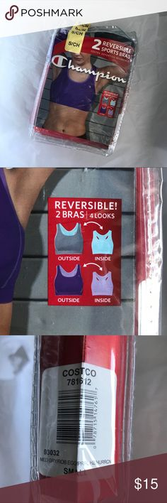 f126da35aa Champion 2 Pack Reversible Sports Bras Champion Reversible 2 Pack Sports  Bras Size Small Sizing Chart