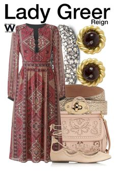 """""""Reign"""" by wearwhatyouwatch ❤ liked on Polyvore featuring Alexis Bittar, Mulberry, Dolce&Gabbana, Topshop, Chanel, television and wearwhatyouwatch"""