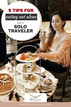 Click here to get 9 tips for eating out alone as a solo female traveler. If the idea of eating at a restaurant solo worries you, use these solo female travel tips to feel more comfortable eating in a restaurant alone. | solo travel tips | female solo travel tips | how to travel solo female | how to plan solo travel | how to travel by yourself | Solo Travel Tips, Car Travel, Packing Tips For Travel, Travel Alone, Travel Abroad, Travel Guides, Eating Alone, Volunteer Abroad, Family Travel