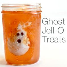Yummy Ghost Jell-O treats for you Halloween celebration.