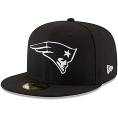 New England Patriots New Era B-Dub 59FIFTY Fitted Hat - Black   NewEnglandPatriots Nfl 69d362fb204