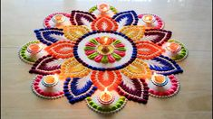 Diwali special rangoli design l Diwali rangoli designs with colours l Ha. Diwali special rangoli design l Diwali rangoli designs with colours l Ha. Easy Rangoli Designs Videos, Rangoli Designs Latest, Simple Rangoli Designs Images, Rangoli Designs Flower, Colorful Rangoli Designs, Rangoli Ideas, Rangoli Designs Diwali, Flower Rangoli, Beautiful Rangoli Designs