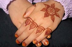 Mehndi For Children : New and simple easy kids mehndi designs  henna style for
