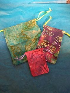 A personal favorite from my Etsy shop https://www.etsy.com/listing/385578992/batik-3-pack-drawstring-bags