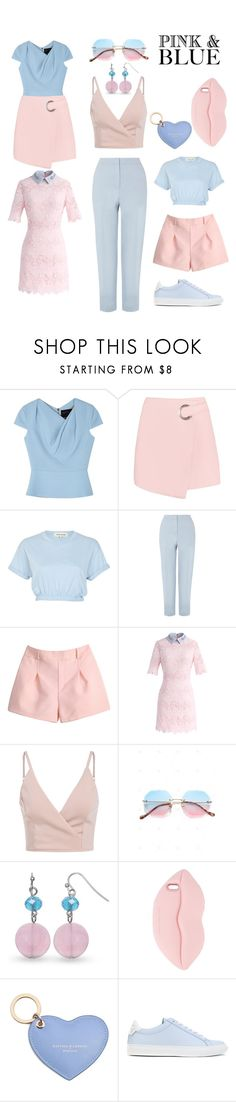 """""""pink & blue"""" by egchee ❤ liked on Polyvore featuring Roland Mouret, River Island, Hobbs, Chicwish, STELLA McCARTNEY, Aspinal of London and Givenchy"""