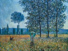 Claude Monet - Felder im Frühling