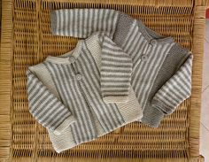 Ravelry: Project Gallery for Sideways-knit striped jacket pattern by Rico Design. 3-24 months