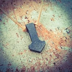 Clean and simple Mjolnir pendan by MetalShopValtonen. https://www.etsy.com/listing/615422547/hand-forged-viking-hammer-pendant-thors. #thorshammer #vikings #mjolnir #pendant #blacksmithing #handforged