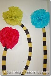Make your own Truffula Trees! This will go great with my Dr. Suess lesson in March!