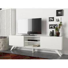 Latitude Run® Connie-Agnes TV Stand | Wayfair Modern Tv Units, Mid-century Modern, Tv Decor, Home Decor, Decor Ideas, Media Furniture, Cool Tv Stands, Mid Century Modern Decor, Tvs