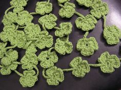 Ravelry: One Piece Crochet Shamrock pattern by Jan Baxter