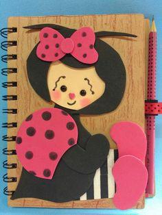 Caderno de joaninha