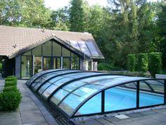 Zwembadoverkapping op maat - zwembadoverkappingen Aluna Benelux
