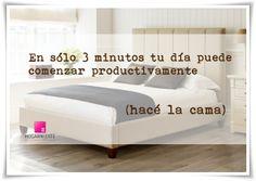 www.hogarnizate.com.ar facebook.com/hogarnizate #bed #cama #orden #organizacion #organizing Mattress, Facebook, Bed, Quotes, Furniture, Home Decor, Frases, Bed Making, Beds