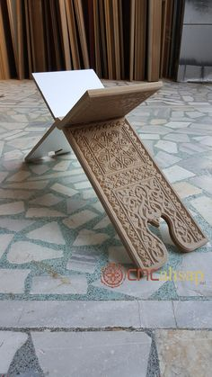 Bible Stand, Book Stands, Islamic Calligraphy, Wood Furniture, Wooden Toys, Wood Projects, Medieval, Boxes, Rugs