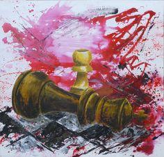 Josep Lacreu - Jaque al Rey  100 x 100 cm.  Acrílico sobre tabla.FOR SALE pil4rblasco@gmail.com