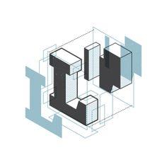 "Letra ""L"" O alfabeto explodido de Matt Stevens http://hellomattstevens.com/"