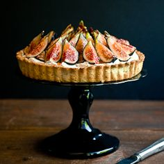 Fig, Mascarpone, and Pistachio Tart - I've tried this recipe and it's become a favourite with friends and family.