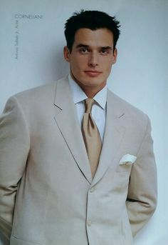 In addition to his stint as the face (and body) of Calvin Klein, Antonio Sabato, Jr. also modeled menswear in a 1998 Saks catalog.