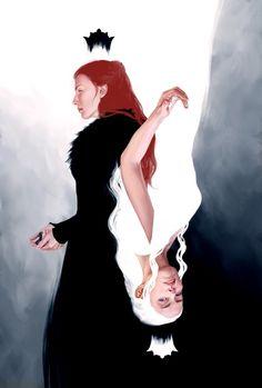 Queen Me, an art print by Priscilla Kim Dessin Game Of Thrones, Arte Game Of Thrones, Game Of Thrones Artwork, Sansa Stark, Character Inspiration, Character Art, Game Of Thones, Daenerys Targaryen, Khaleesi