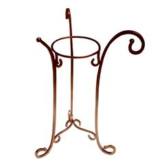 Add a chic touch to your bathroom with this wrought iron pedestal. This rust-colored pedestal does not require assembly which makes set up easy. This pedestal is 32.375 inches high. This faucet stand is both stylish and space efficient.