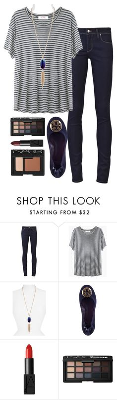 """Kendra"" by kaley-ii ❤ liked on Polyvore featuring Paige Denim, Organic by John Patrick, Kendra Scott, Tory Burch and NARS Cosmetics"