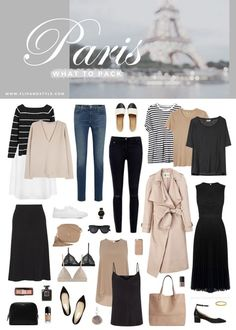 What to pack for a trip to Paris @flipandstyle    Blog Post: http://www.flipandstyle.com/2016/07/what-to-pack-paris.html