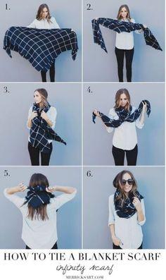 20 Ways To Wear A Blanket Scarf - Society19