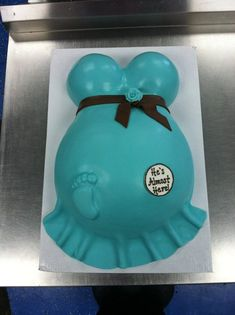 "Baby shower cake- make it for girl with ""baby on board"" saying in ..."