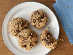 Chewy Oatmeal Raisin Cookies - Apple butter adds moisture, flavor and sweetness to these cakey cookies.