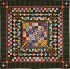 """I only made one 6"""" four-patch for this quilt. All of the other blocks came from my stash of spare parts and leftovers."""
